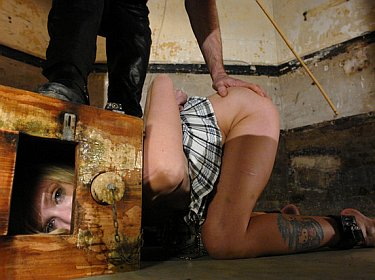 slavegirl Sarah Jane Ceylon kept in a box and trained to fuck on demand