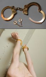 gold plated handcuffs